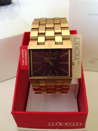 Nixon,  The Ticket,  All Gold Bordeaux,  Herrenuhr Bild