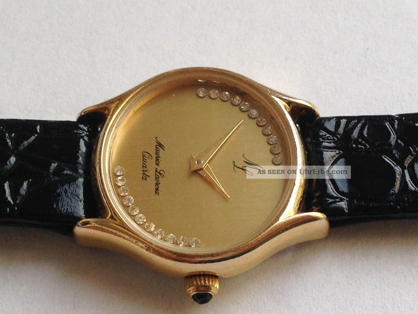 Schöne Orig.  Maurice Lacroix Damen Quartz Uhr Armbanduhr. Armbanduhren Bild