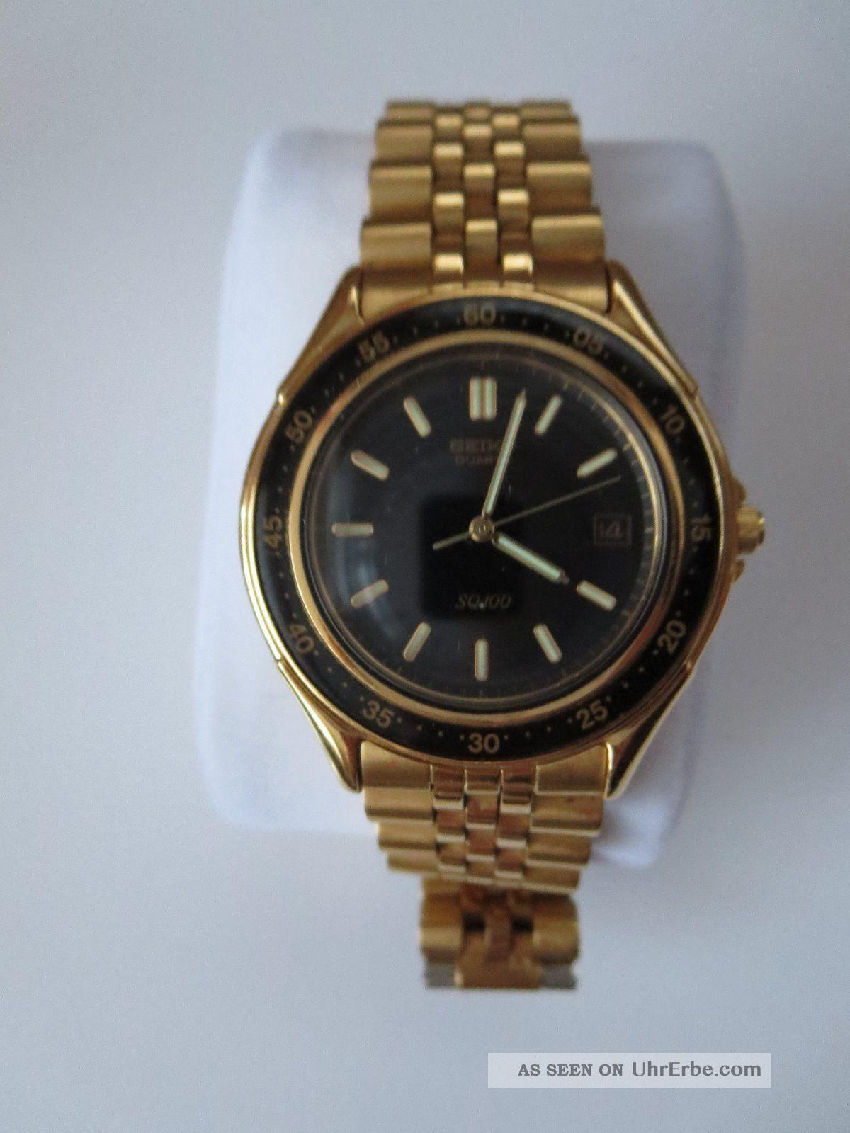 Seiko Quartzuhr Sq100 Armbanduhren Bild