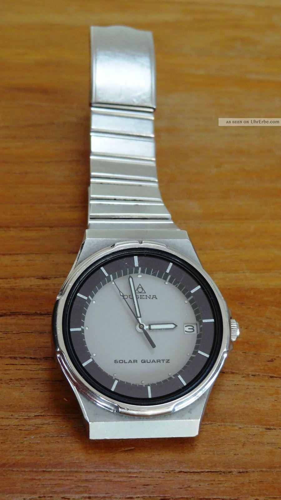 Dugena Herrenuhr Solar Quartz Edelstahl,  Vintage Sammler,  Von Privat Armbanduhren Bild