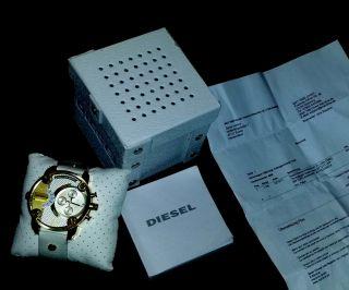 Diesel Uhr Dz7273 Chronograph Little Daddy Weiß/gold Herren Bild