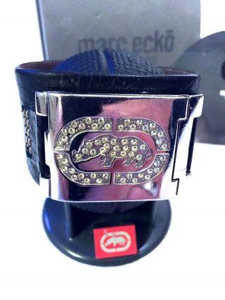 Marc Ecko Cuff Iced Rhino Digital Lederarmband Herren Uhr - E85011g1 Bild