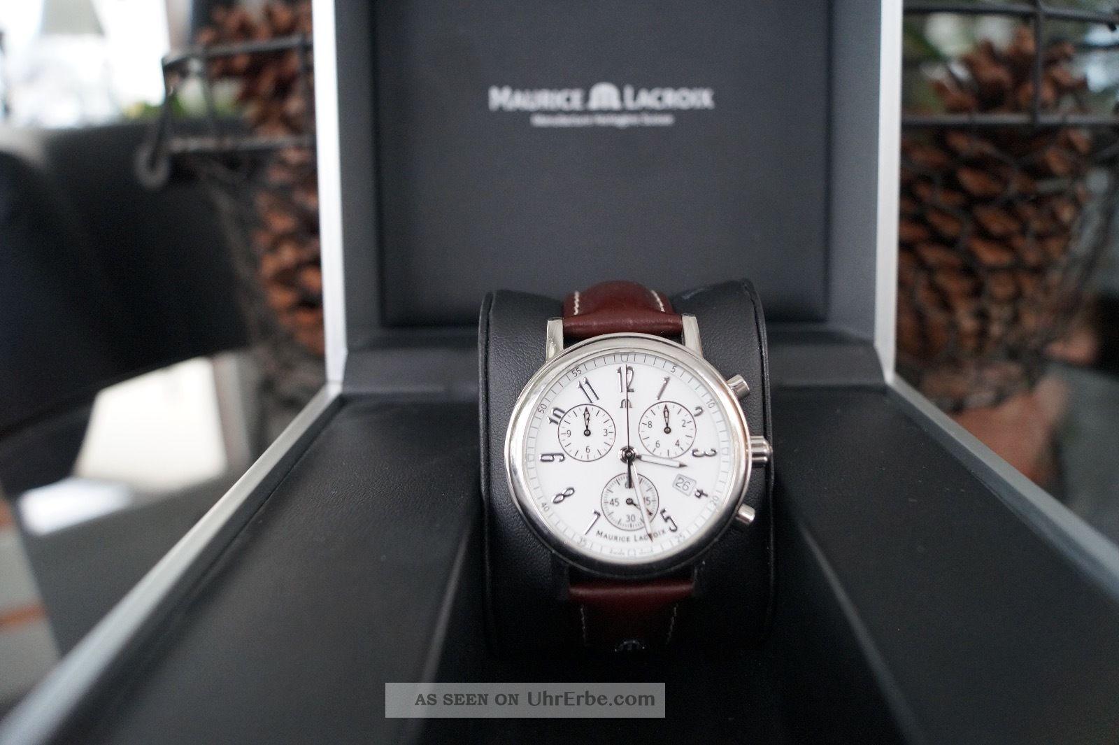 Maurice Lacroix Les Classiques - Lc1038 - Armbanduhr - Uhr - Weiß Armbanduhren Bild