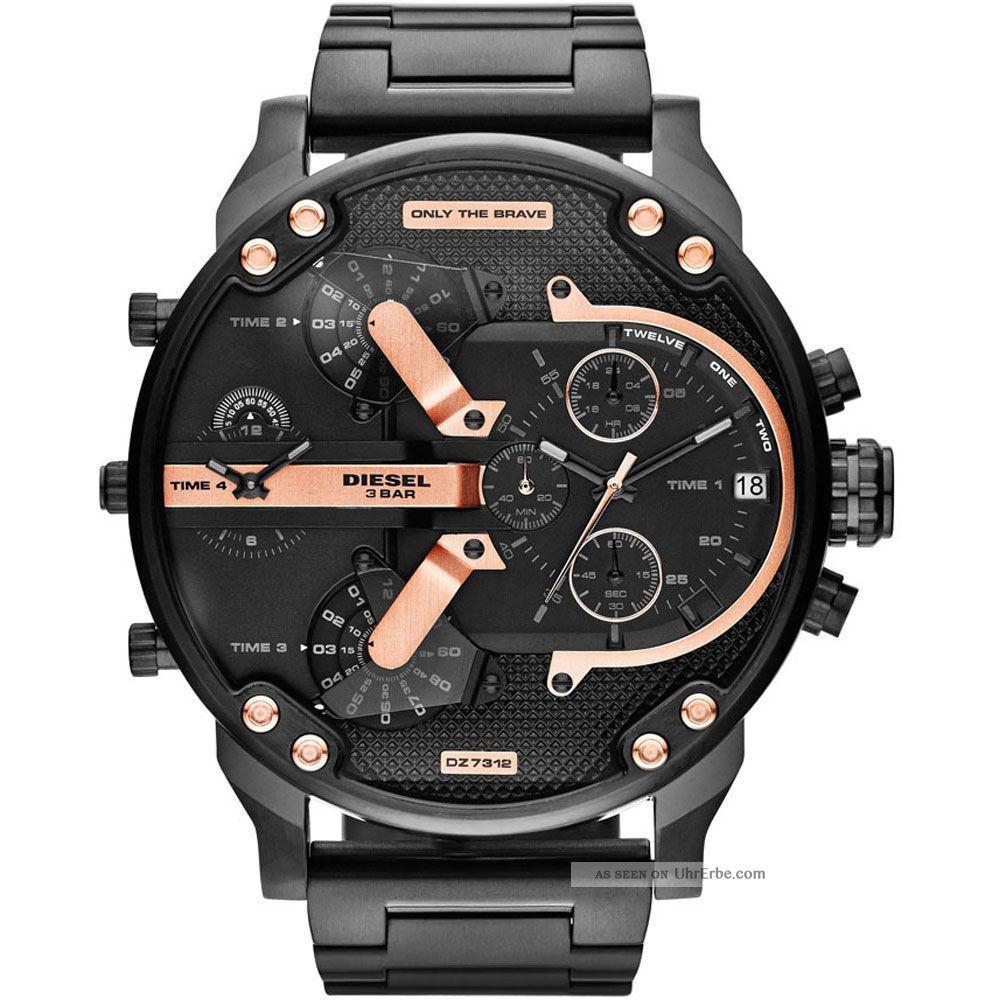 Diesel Herren Uhr Xl Chronograph Mr.  Daddy Dz7312 Np 399€ Armbanduhren Bild