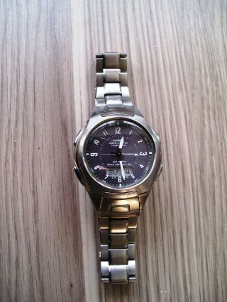 Herren Armbanduhr Casio Wave Ceptor Wva - 430te - 1a2ver Funk Solar - Titanium Bild