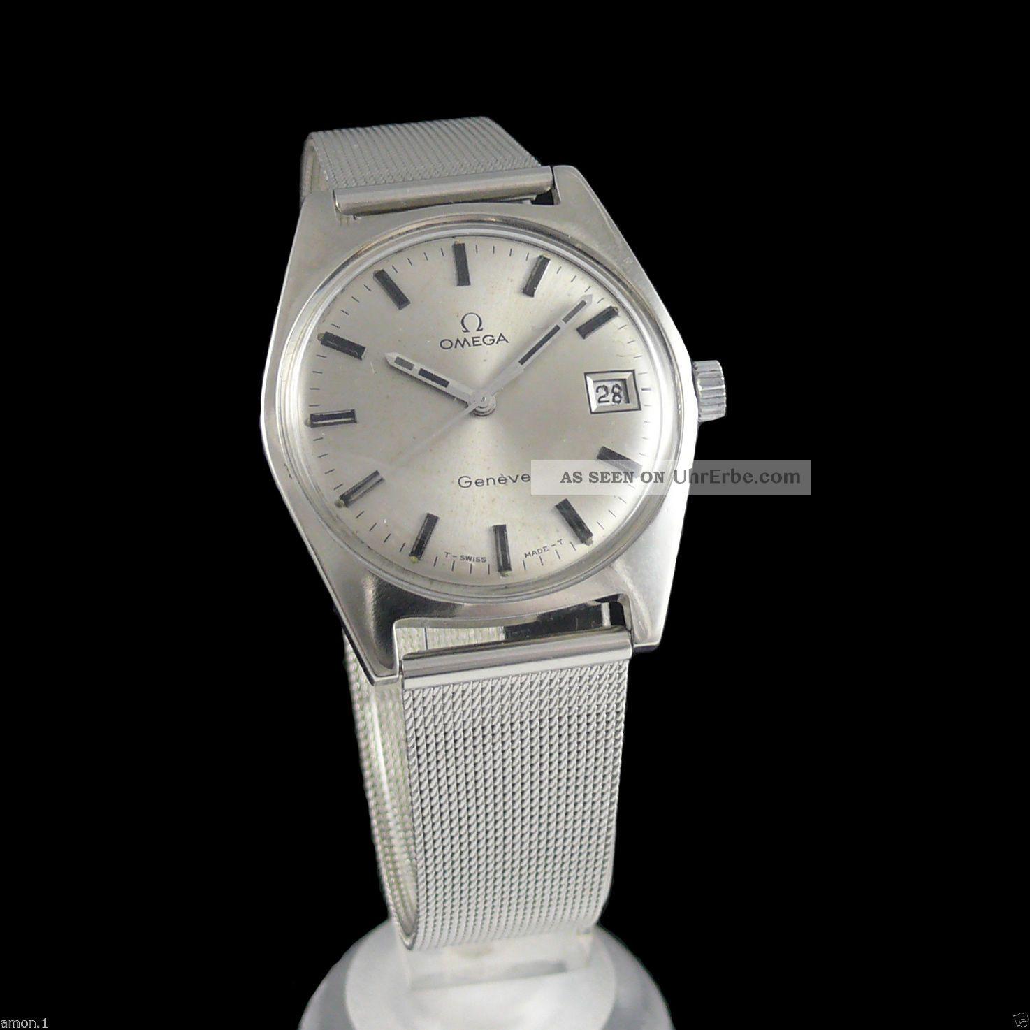 Herrenuhr Omega Geneve Mit Datum,  Edelsthal Cal.  Omega613 Armbanduhren Bild
