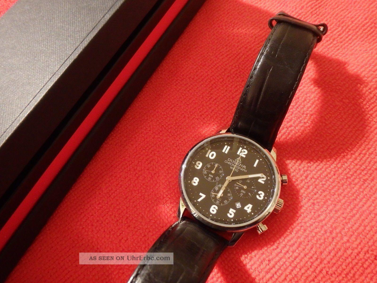 Dugena Chronograph - 2114040 1907 Os20 49891 - Schwarzes Zifferblatt Armbanduhren Bild