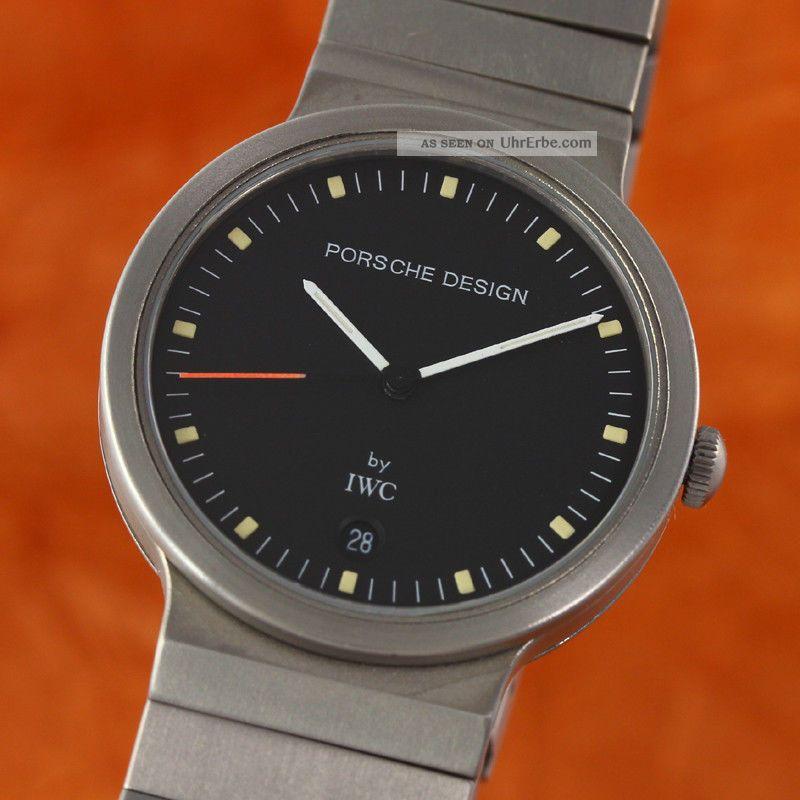 Iwc Schaffhausen Porsche Design Herrenuhr Titan Ref 3335 Datum Armbanduhren Bild
