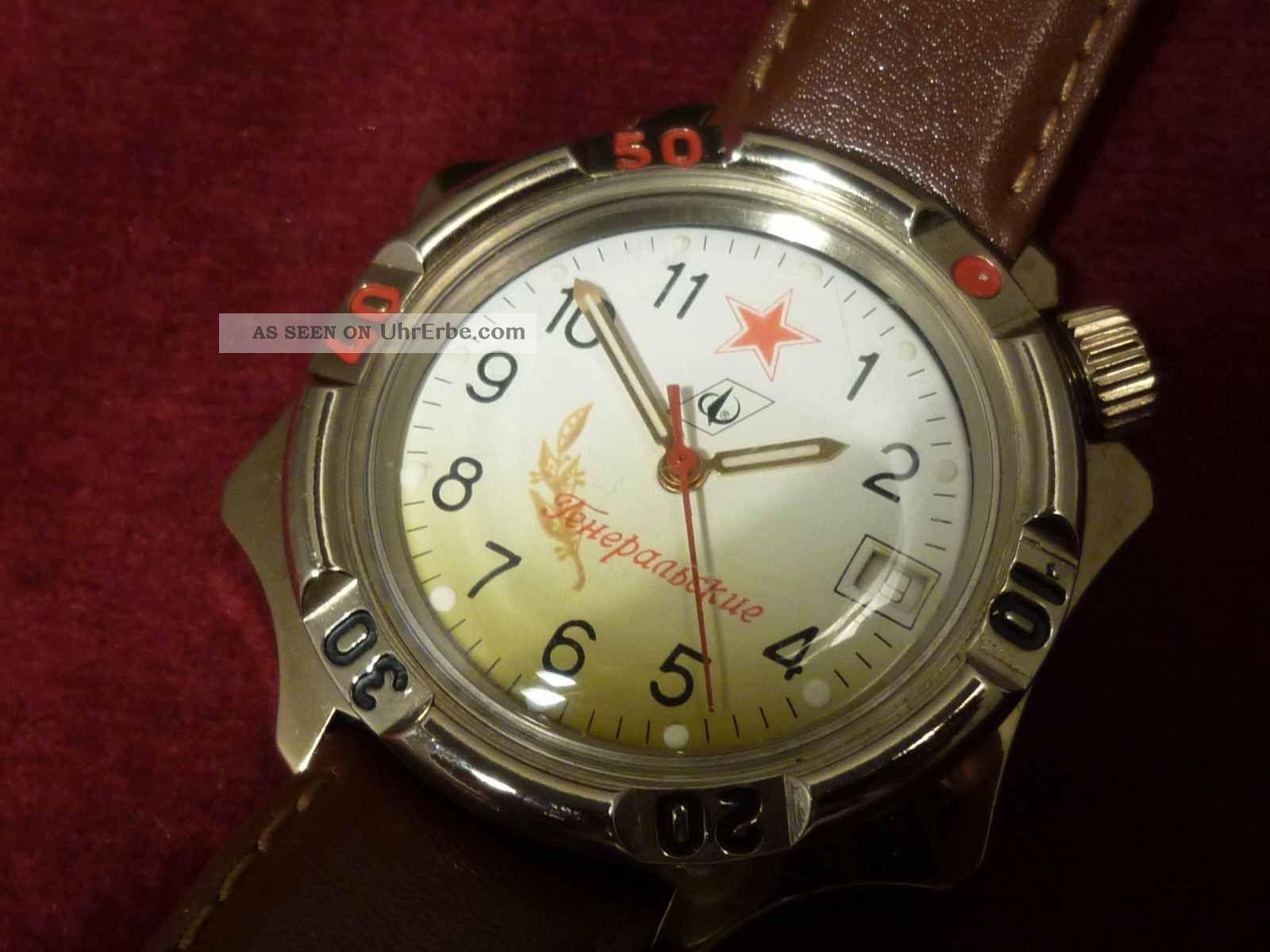 Ungewöhnliche Poljot Russische Offiziers - Uhr.  Top -,  Kaum Getragen,  Nos Armbanduhren Bild
