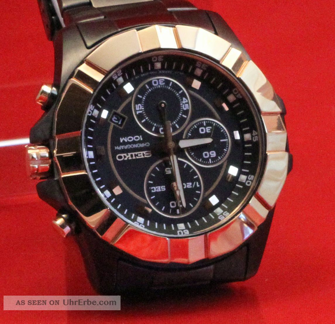 Seiko Lord Chrono In Gunmetal Black / Gold Sndd78p1 Armbanduhren Bild
