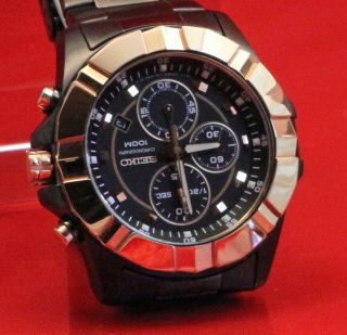Seiko Lord Chrono In Gunmetal Black / Gold Sndd78p1 Bild