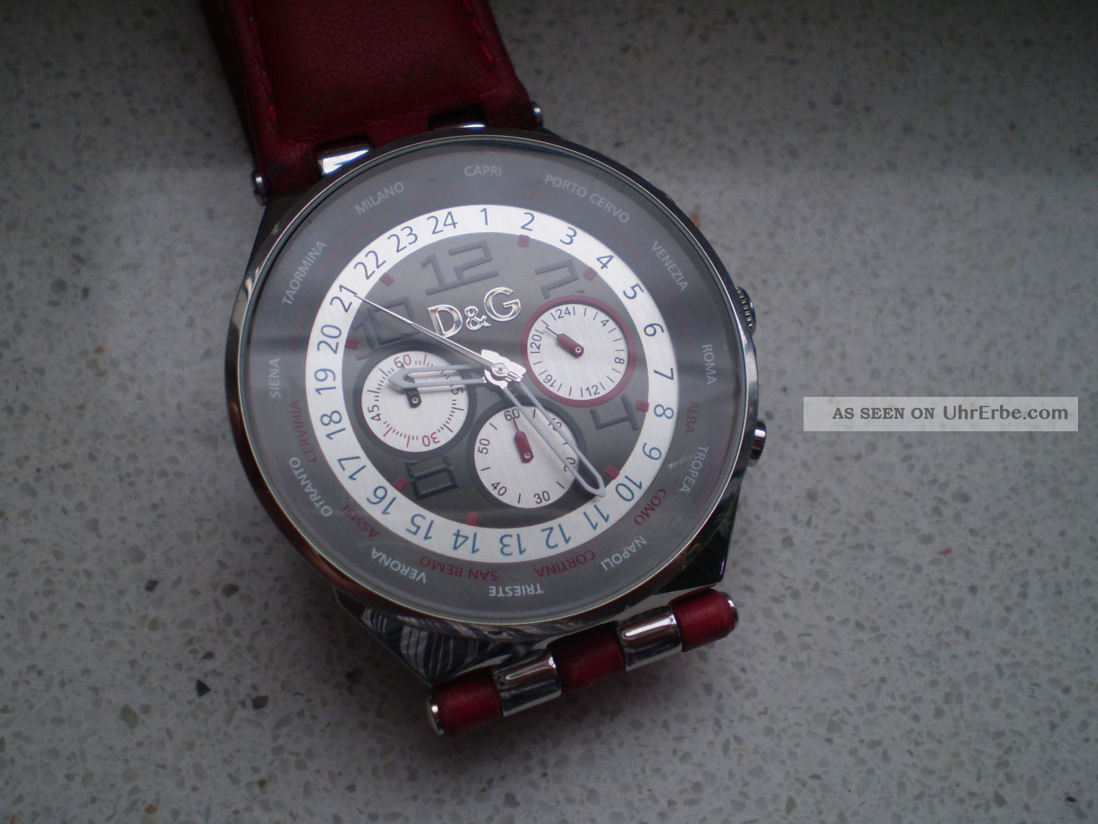 Dolce & Gabbana D&g Herren Chronograph Läuft - Armbanduhren Bild