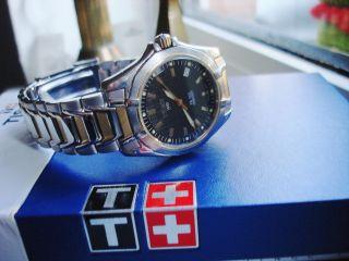 Tissot - Pr - 100 - X Schwere Herren / Damen Uhr Hervorragender Neues Band Bild