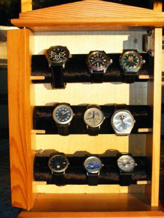 Uhrensammlung,  Armbanduhren,  Ansehen Bild