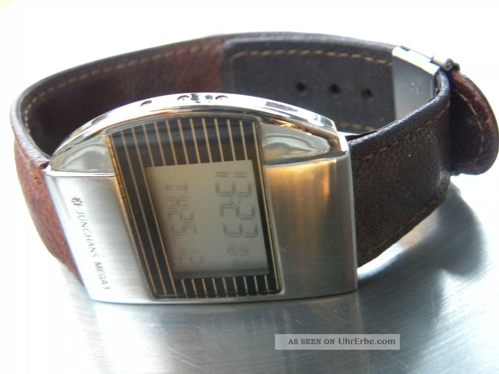 Orig.  Junghans Mega 1 Funkuhr Top Armbanduhren Bild