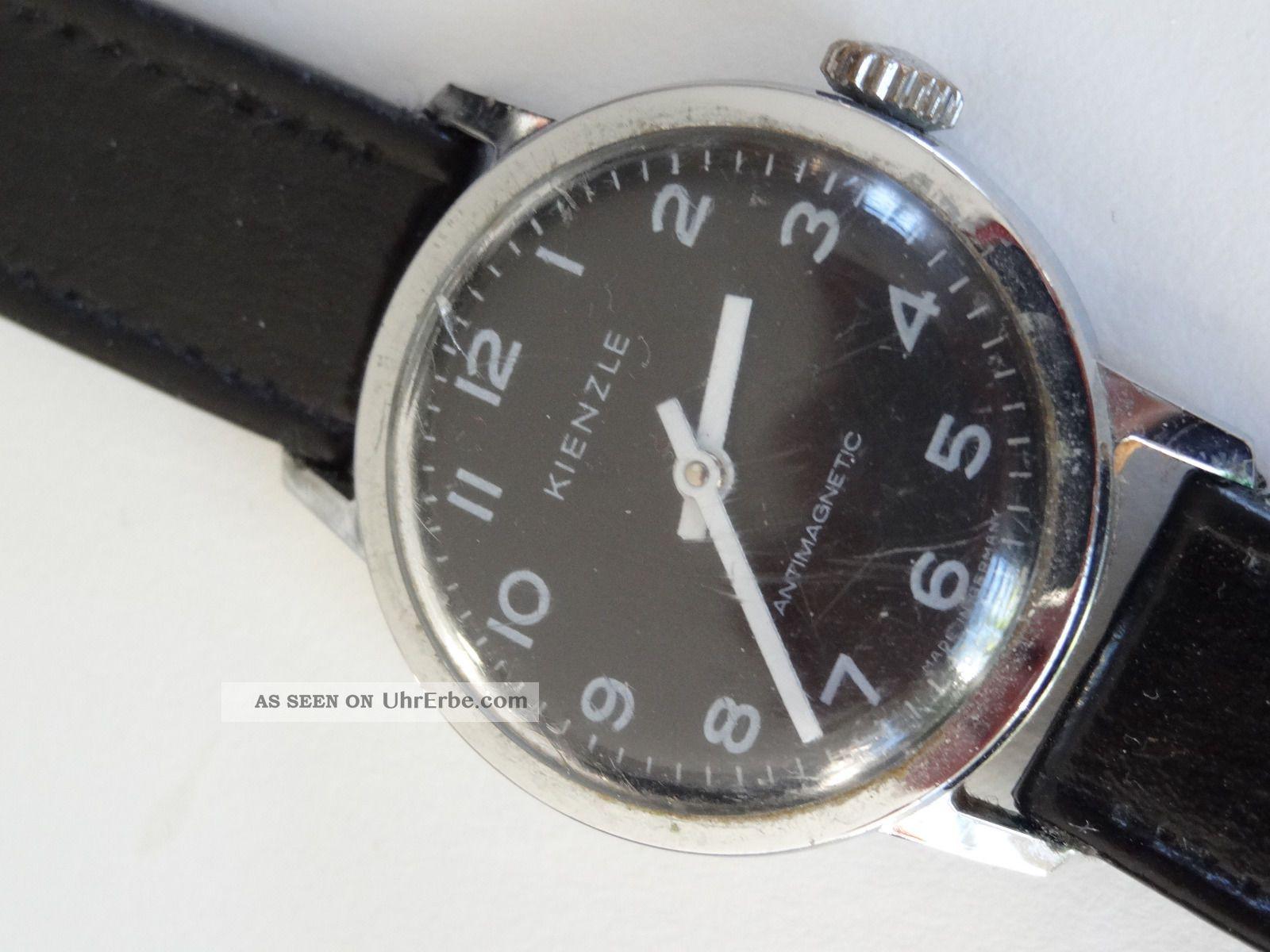 Kienzle Vintage Military Style Armbanduhr Herrenuhr Handaufzug Armbanduhren Bild