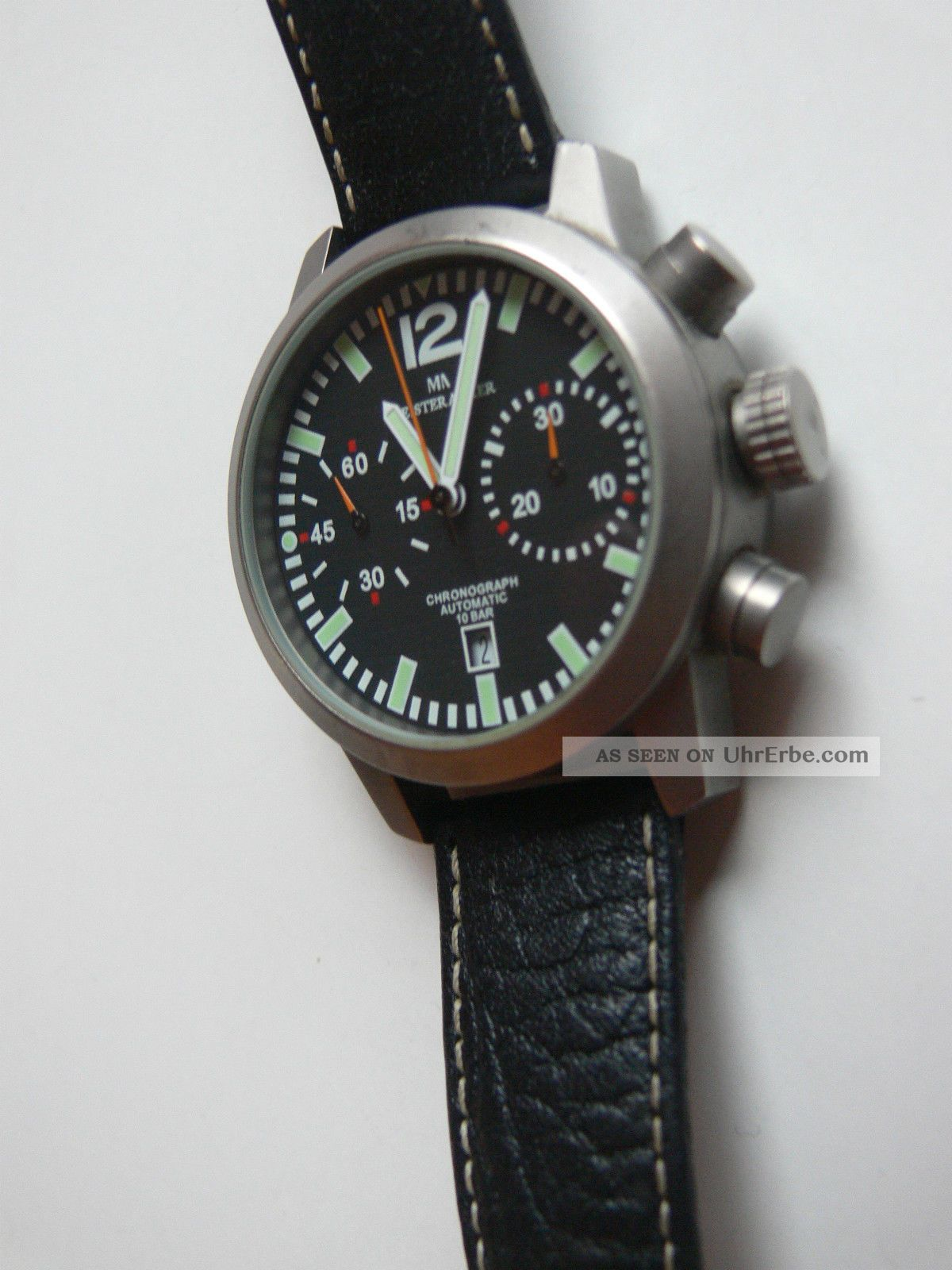 Chronograph Automatic 10 Bar Meister Anker 229.  248 0/234 Titanium Jewels Armbanduhren Bild