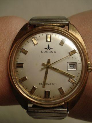 Dugena Vintage Herren Uhr - Automatic - Silber - Gold Bild