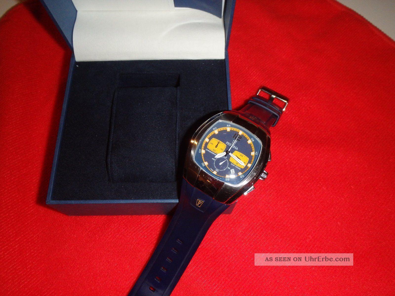 Festina Chronograph 6720 Modele Depose - Sehr Schöne Sportliche Uhr Armbanduhren Bild