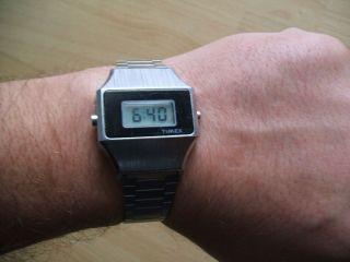 Uhr Sammlung An Bastler Alte Timex Digital Quarz Herrenuhr Bild