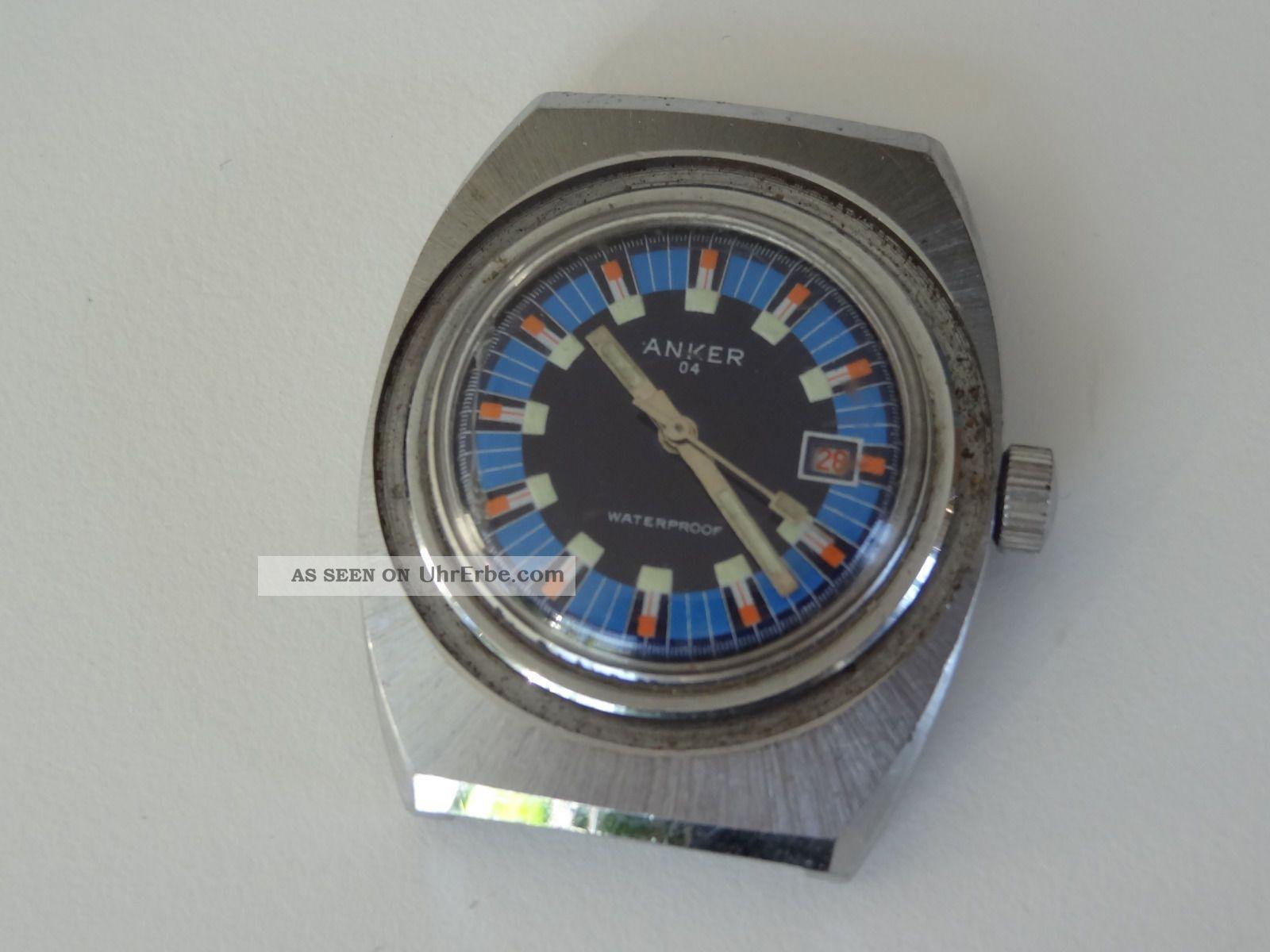 Anker 04 Vintage Taucheruhr Armbanduhr Herrenuhr Handaufzug Armbanduhren Bild
