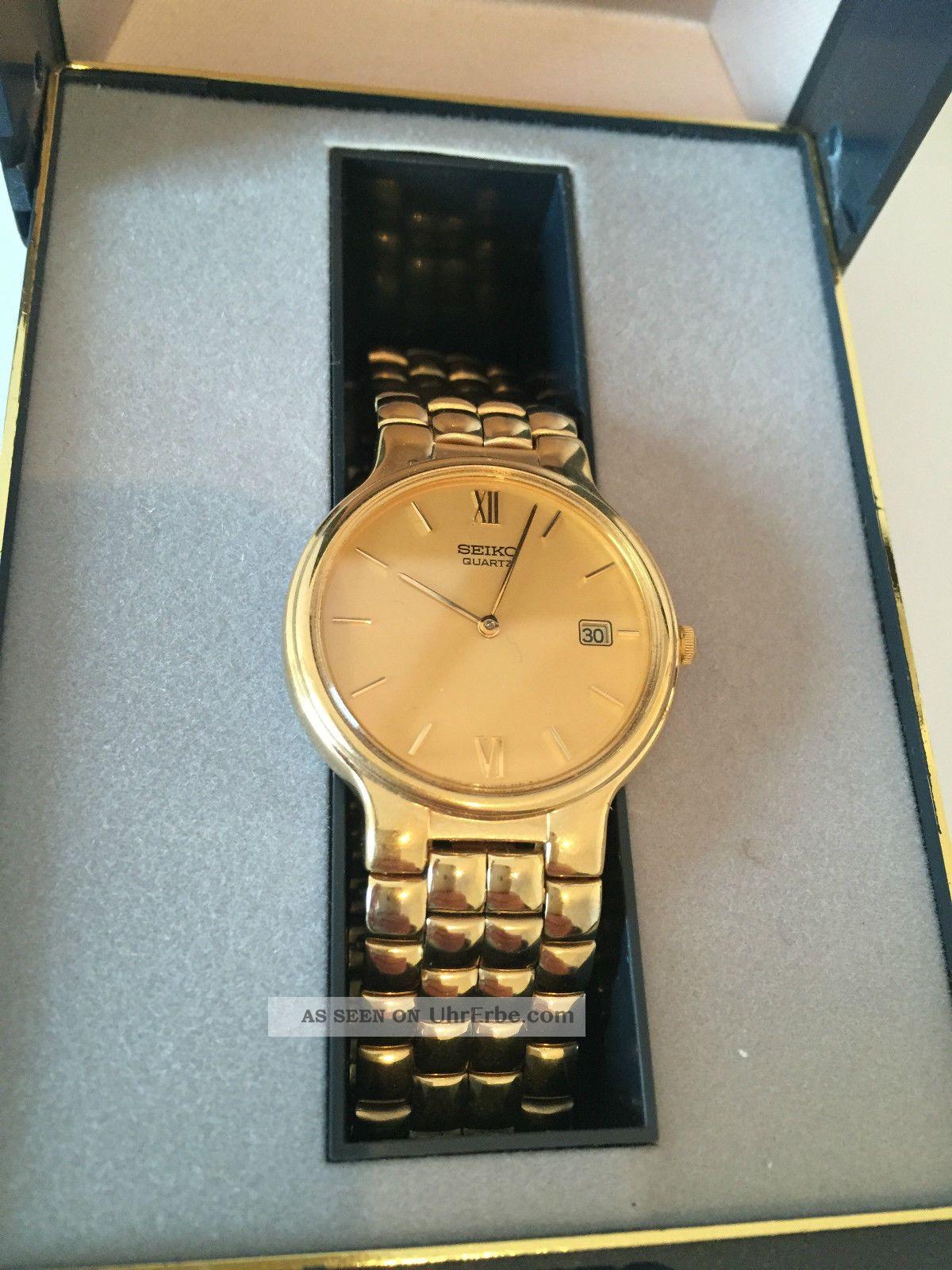 Uhr Armbanduhr Seiko Quartz 7n28 - 6201 Metal Mit Ovp Neue Batterie Armbanduhren Bild