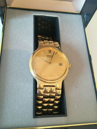Uhr Armbanduhr Seiko Quartz 7n28 - 6201 Metal Mit Ovp Neue Batterie Bild