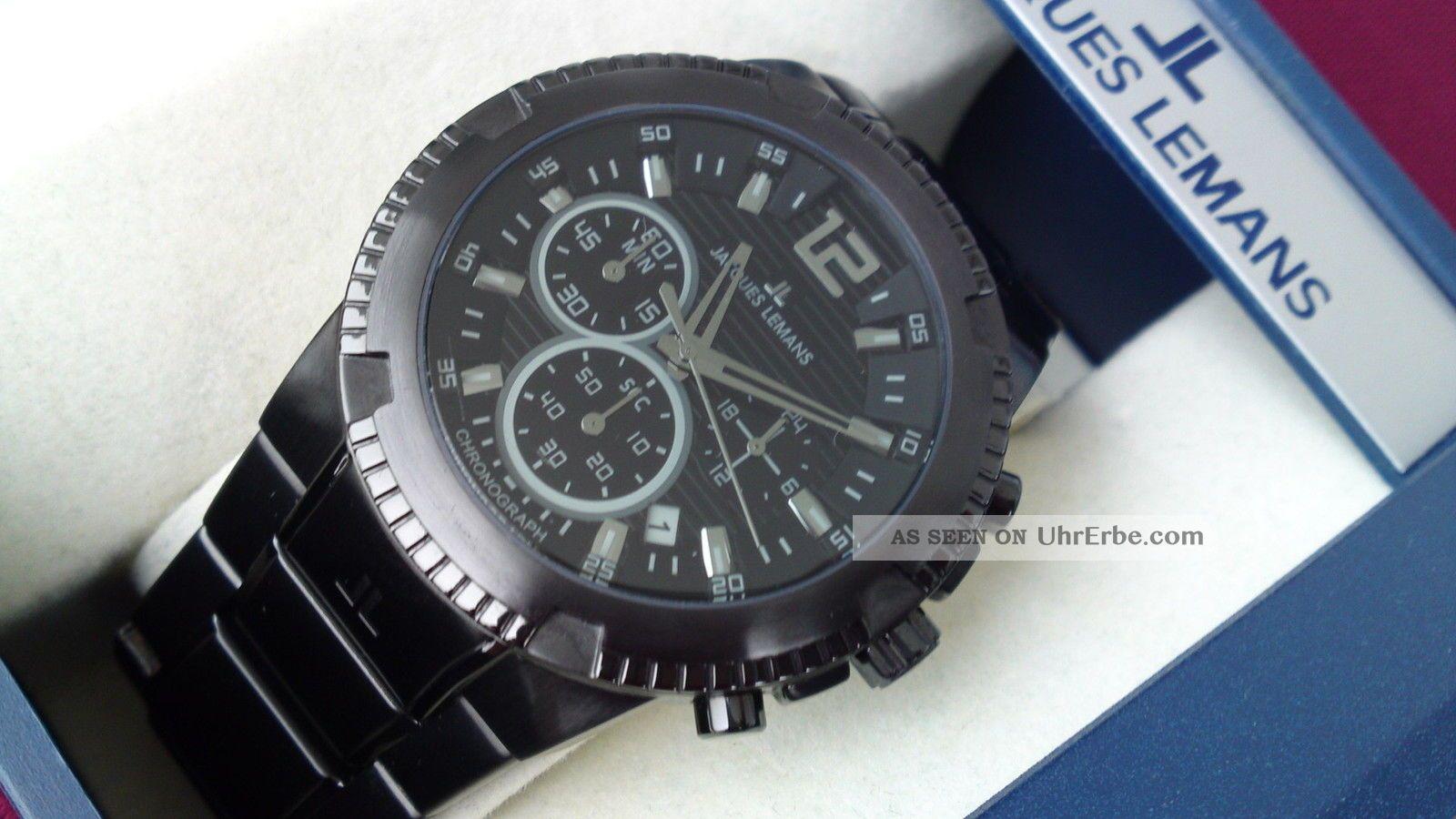 Jacques Lemans Powerchrono Sondermodell 1 - 1455n Uvp 219€ Mit Top Armbanduhren Bild