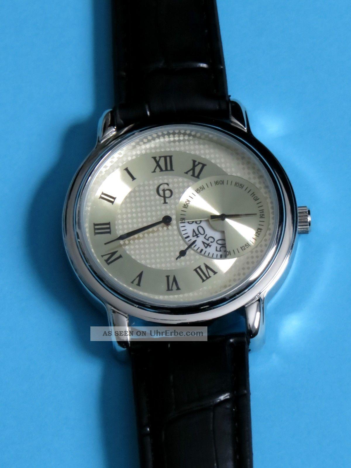Herrenuhr Armbanduhr Regulator Uhr Getrennte Zifferblätter Quarzuhrwerk Armbanduhren Bild