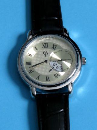 Herrenuhr Armbanduhr Regulator Uhr Getrennte Zifferblätter Quarzuhrwerk Bild