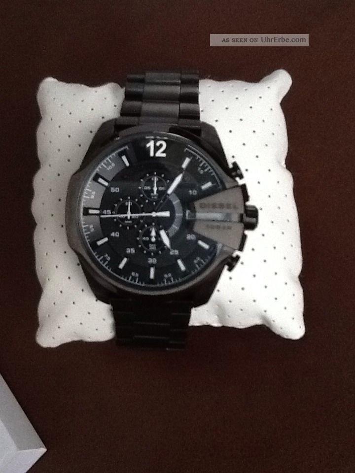 Diesel Uhr Mega Chief Dz - 4283 Chronograph Armbanduhren Bild