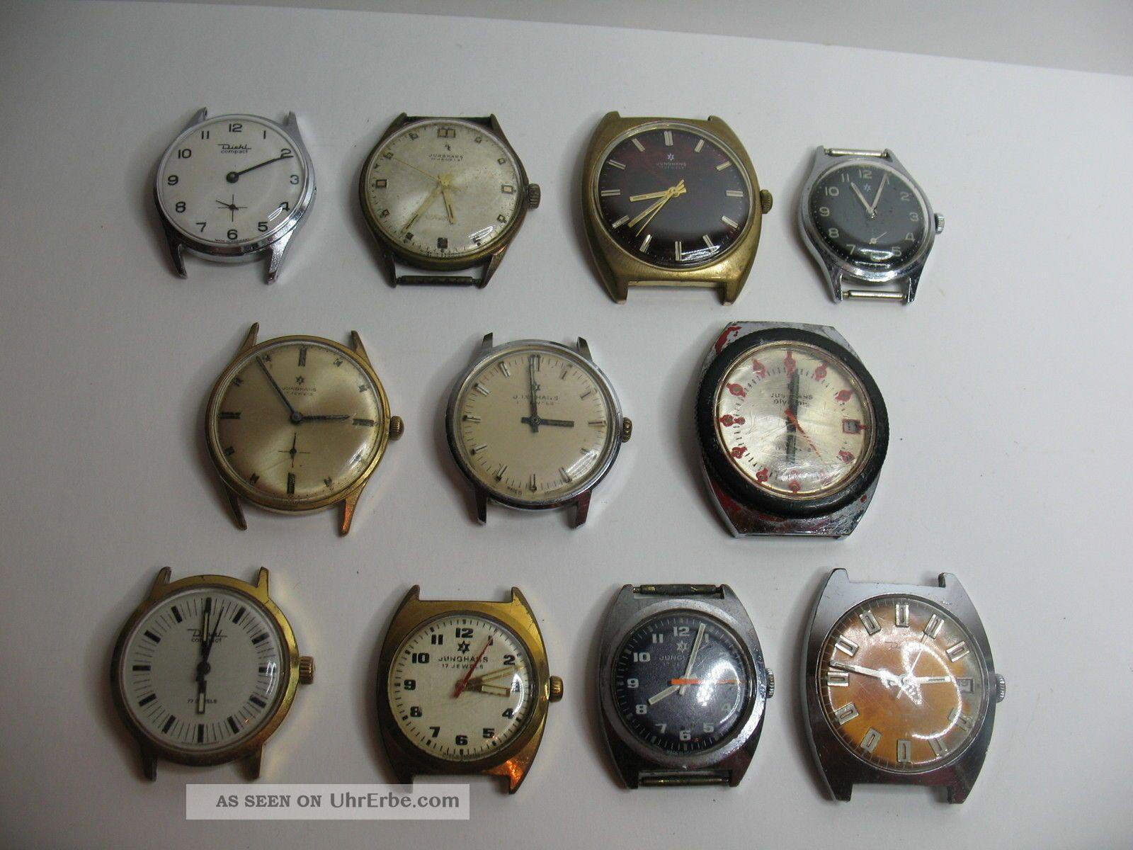 Konvolut Von 11 Alten Junghans Herrenuhren Mit Den Kalibern 620 Bis 620,  57 Armbanduhren Bild