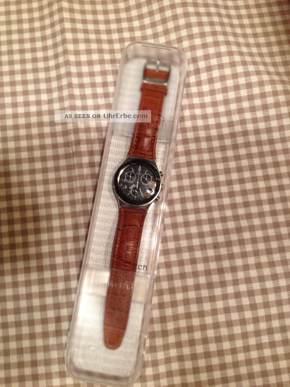 Swatch Uhr Irony Chrono Dark Phoenix - Ycs429 Armbanduhren Bild