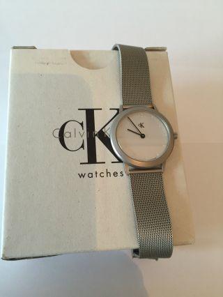 Uhr Armbanduhr Calvin Klein K3121 K3122 Metal Grau Mit Ovp Neue Batterie Bild