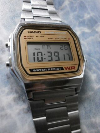Casio A - 158we Armbanduhr Vintage Bild