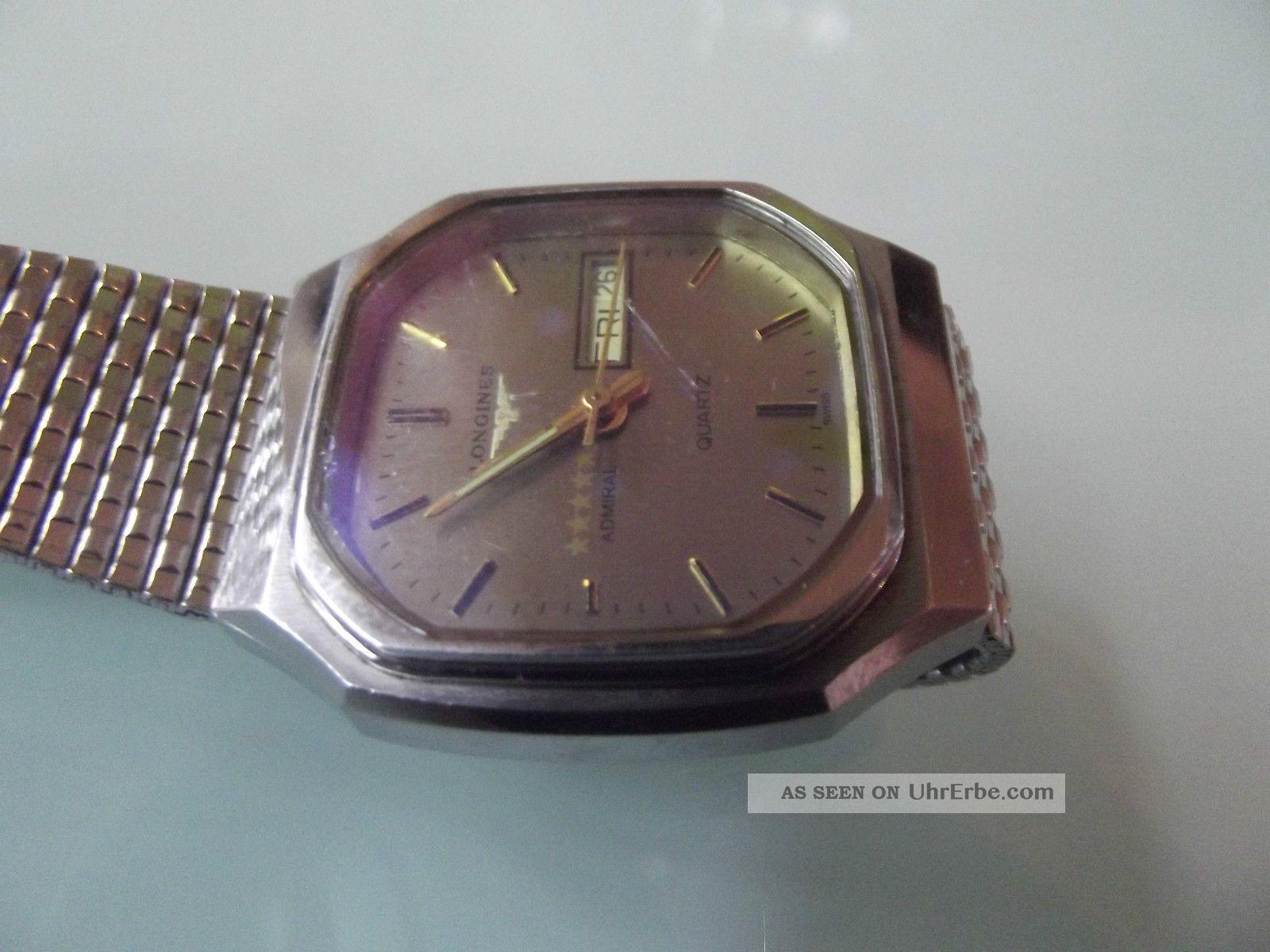 Hau Longines Admiral 5 Sterne Day Date Quartz Edelstahl Armbanduhren Bild