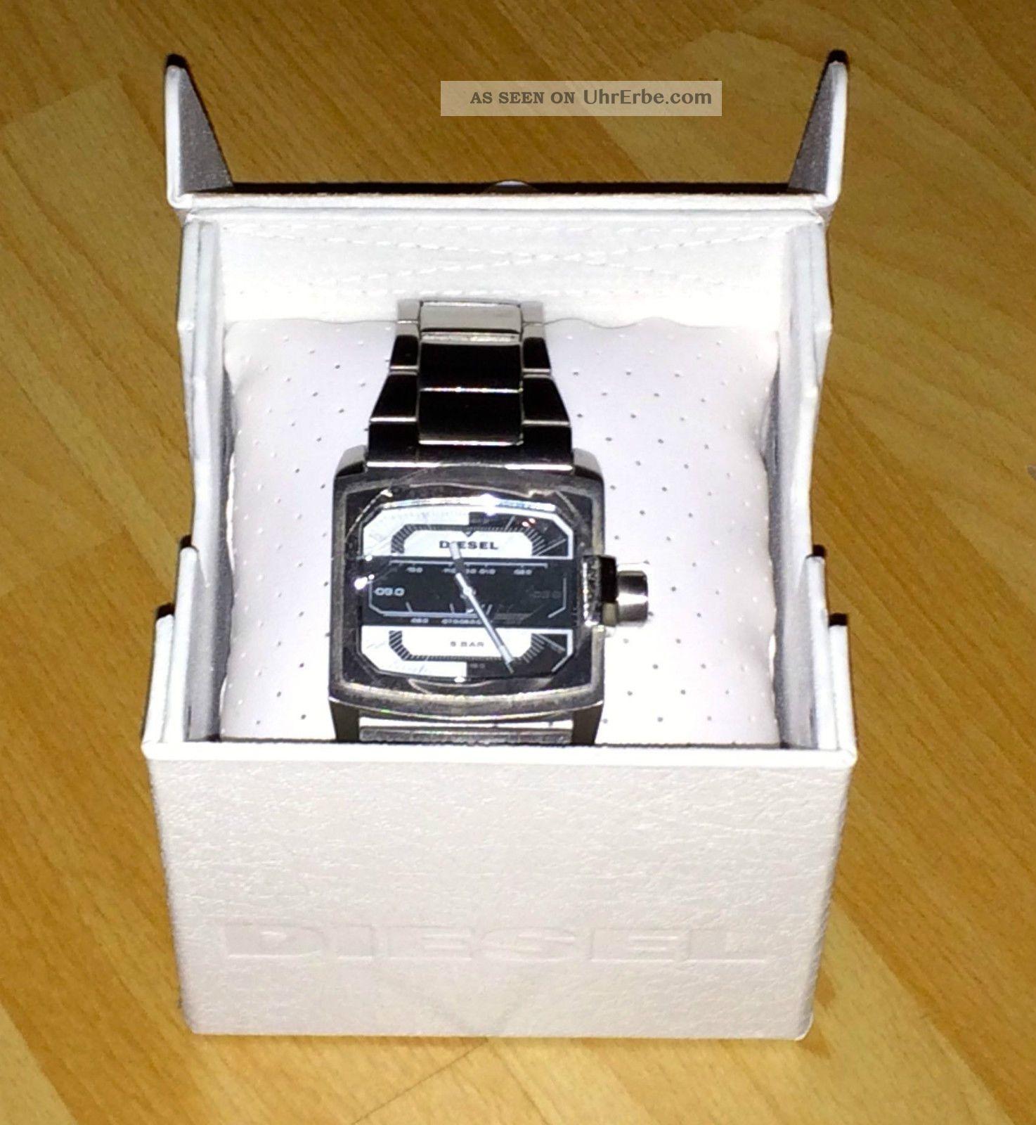 Diesel Armbanduhr Silber Metallarmband Rechteckig Armbanduhren Bild