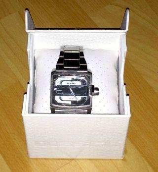 Diesel Armbanduhr Silber Metallarmband Rechteckig Bild