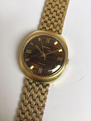 Dienstuhr Bellana Uhr Eisenbahner Swiss Made Watch Hartvergoldet Deutsches Heer Bild