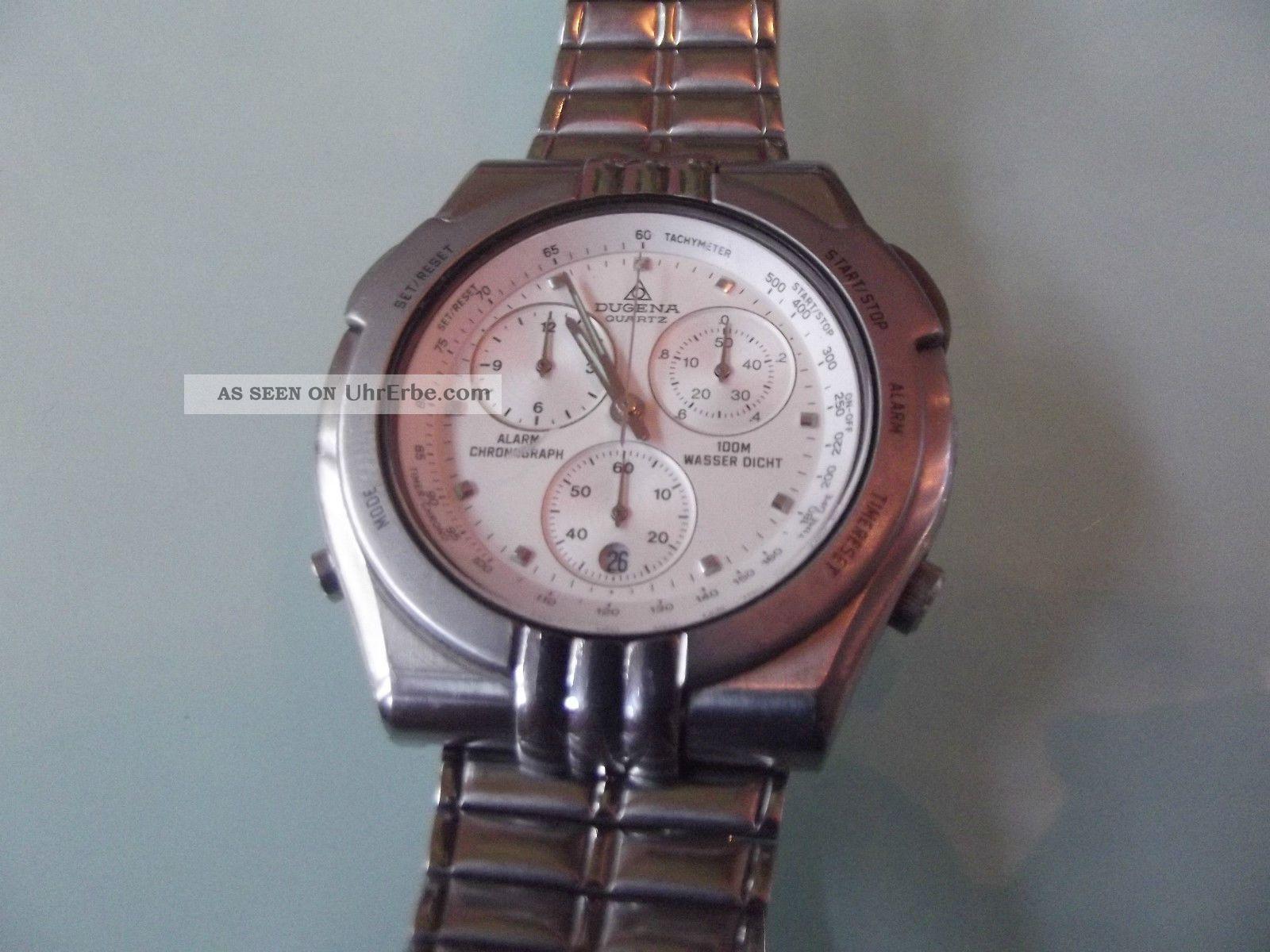 Hau Dugena Quartz Alarm Chronograph Armbanduhren Bild