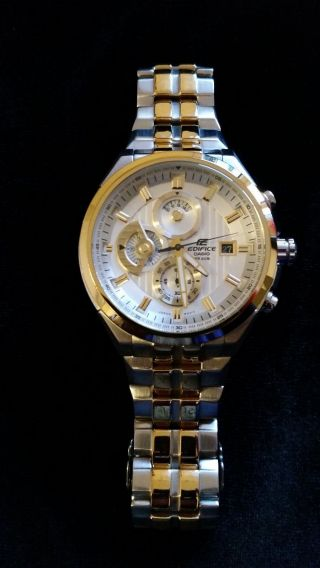 Casio Edifice Ef - 556sg - 7avef Herrenchronograph In Gold - Optik Bild