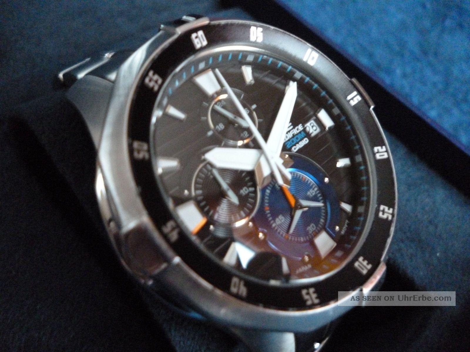 Casio Edifice Efm - 502d - 1avef Chronograph Edelstahl Herrenuhr Armbanduhren Bild