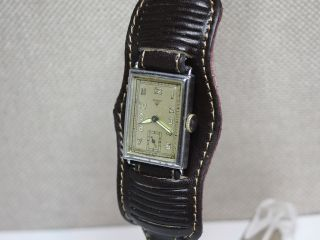 ❶wagner Select Herrenuhr Aus Den 30er Jahren.  Rechteckige Armbanduhr Kaliber 820 Bild