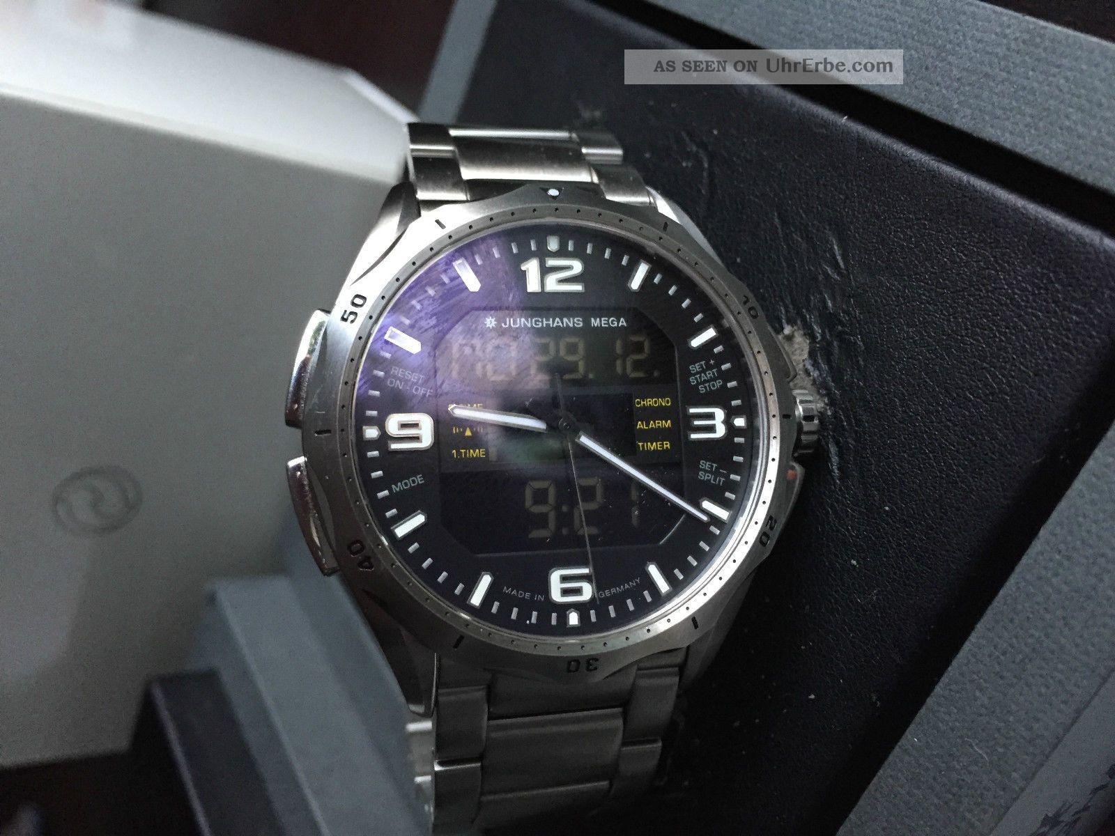 Junghans Mega Aviator Funkuhr Armbanduhren Bild