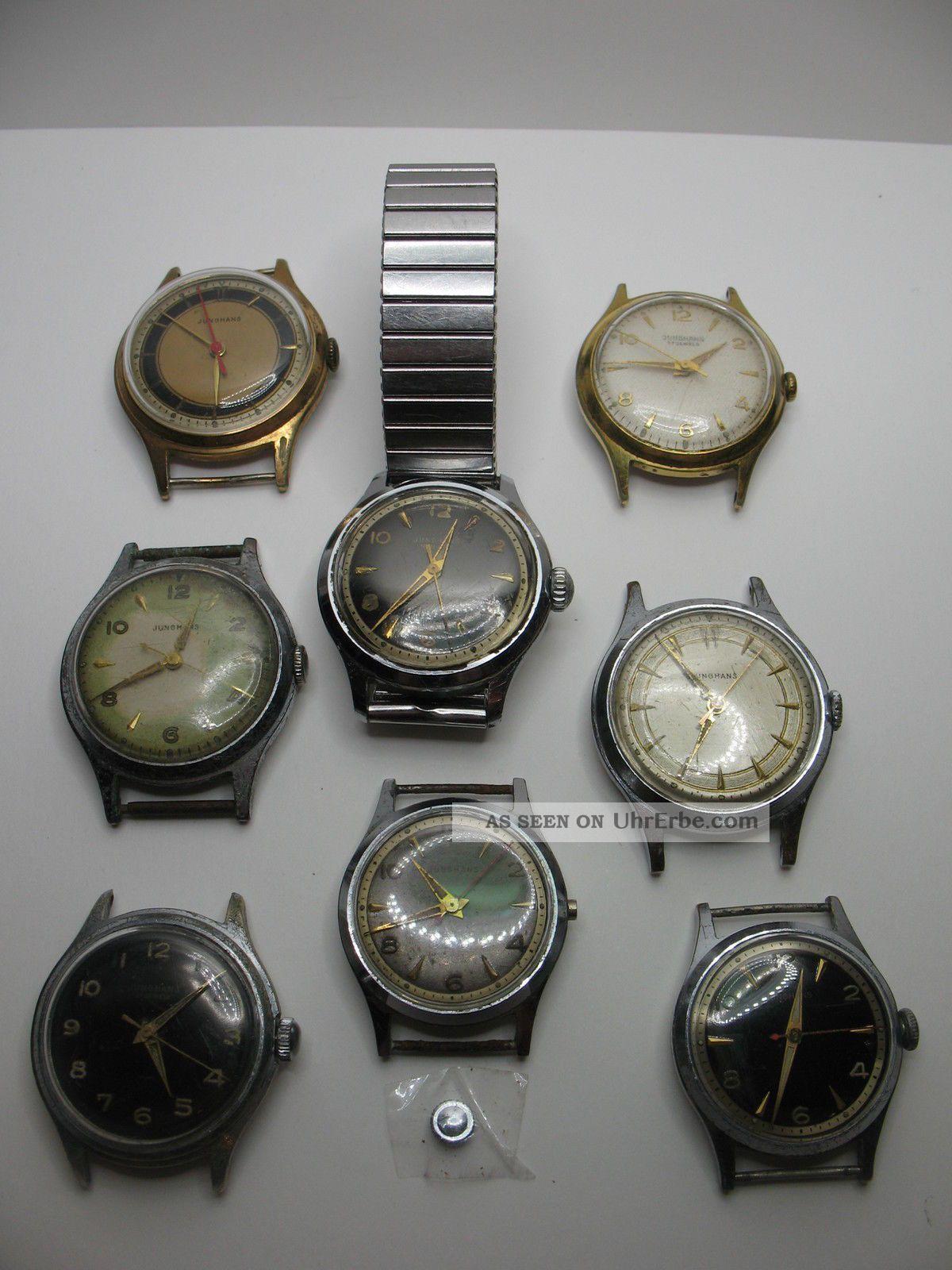 Konvolut Von 8 Junghans Herrenuhren Mit Dem Kaliber 93/1 Aus Den 50er Jahren Armbanduhren Bild
