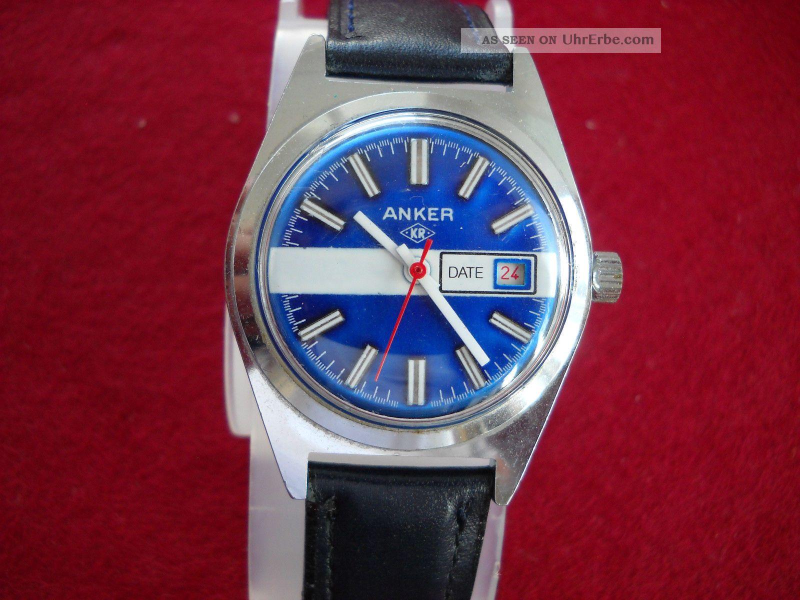Armbanduhr Anker Kr 60er 70er Jahre Handaufzug Armbanduhren Bild