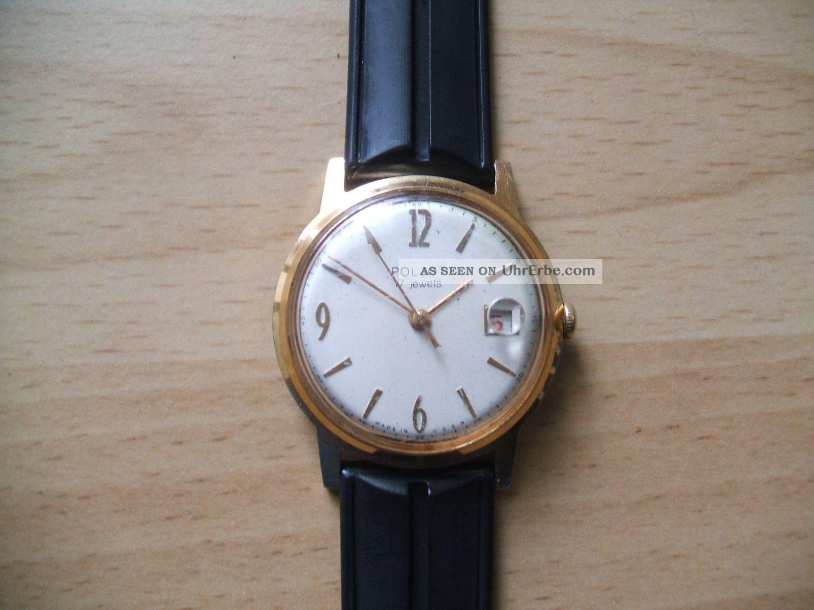 Uhr Sammlung An Bastler Alte Russische Poljot 17jewels Mechanisch Herrenuhr Armbanduhren Bild