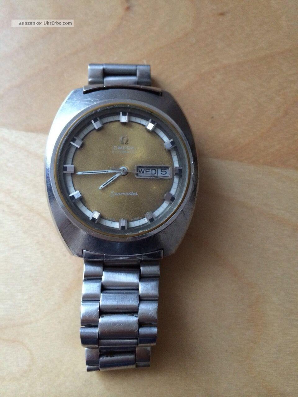 Vintage Omega Seamaster Herrenuhr,  Stahl,  Automatic,  Stahlband Armbanduhren Bild