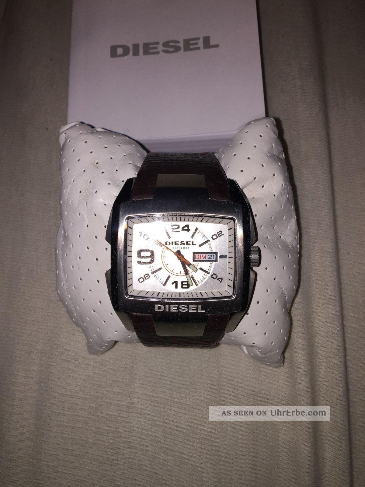 Diesel Lederarmbanduhr Dz1273 - Armbanduhren Bild