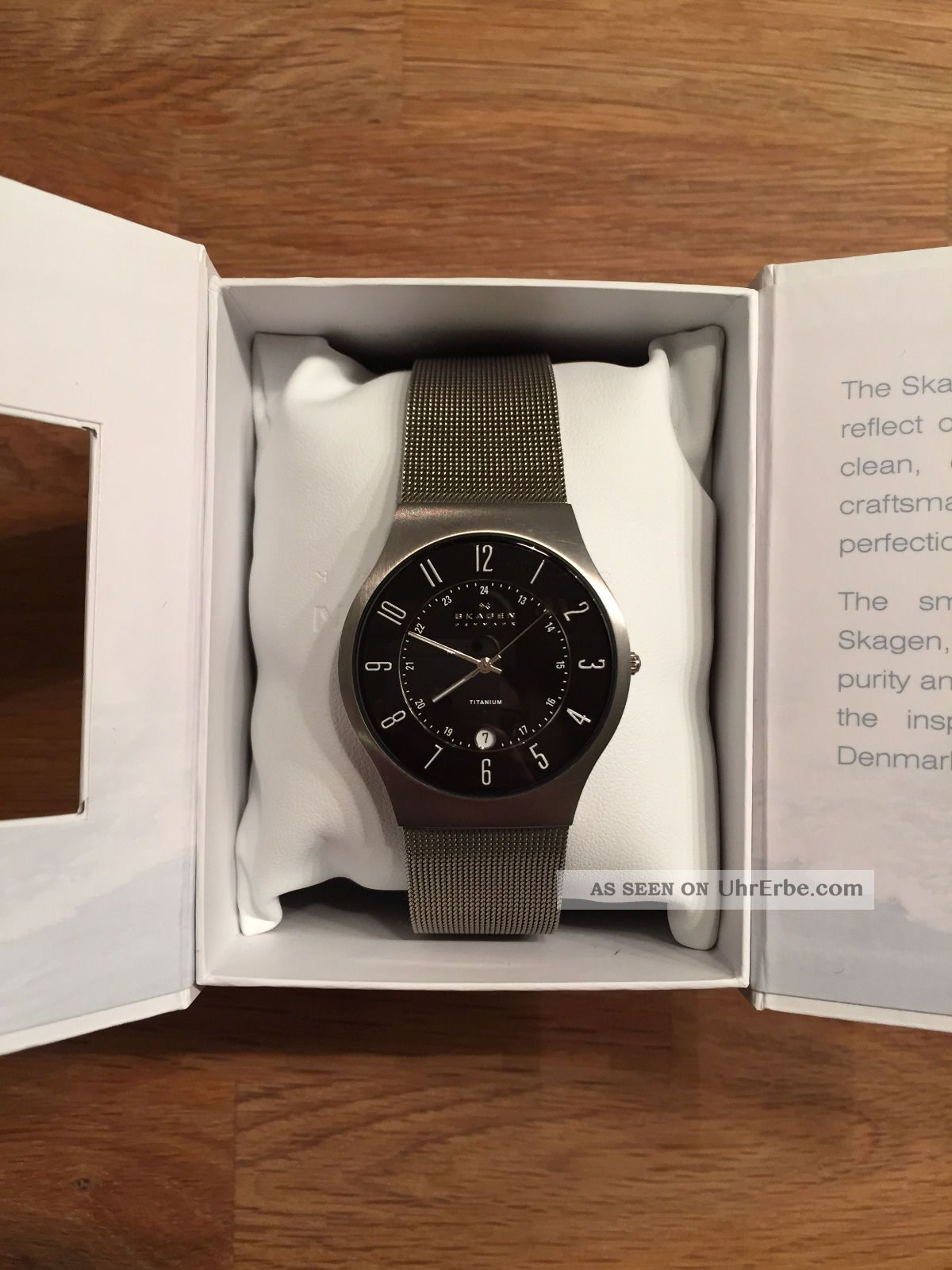 Skagen Herrenuhr Slimline 233xlttb Mit Titangehäuse Armbanduhren Bild